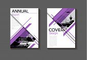 Purple Modern Cover Layout Abstract Background Design Modern Book Brochure -template,annual Report,m poster