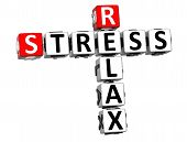 3D Stress Relax Crossword Cube Words