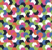 Seamless Geometric Arrow Pattern. Seamless Abstract Geometrical Background. Infinity Geometric Patte poster
