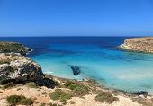 Awesome View Of Lampedusa Island In Southern Italy poster