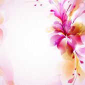 Tender background with abstract flower