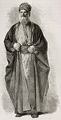 Old Jew from Babylonia. Created by Bayard after photo of unknown author, published on Le Tour du Monde, Paris, 1867