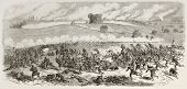 Battle of Fredericksburg old illustration (Confederate Army against Union Army). Created by Godefroy