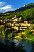 Town Of Sisteron In Provence, France poster