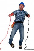 electrician being electrocuted