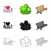 Vector Illustration Of Urban And Street Sign. Collection Of Urban And Relaxation Stock Symbol For We poster