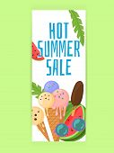 Vector Image, Banner With Summer Spirit, Summer Sale. Hot Summer Sale. Special Offer. Summertime Sal poster