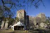 GUIMARAES, PORTUGAL - SEPTEMBER 16: Medieval themed fairs; arts, crafts, and activities centered around the Medieval period at FEIRA AFONSINA, on September 16, 2012 in Guimaraes, Portugal