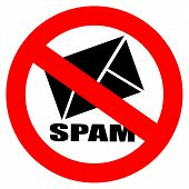 No spam vector sign