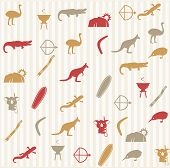 stock photo of didgeridoo  - Seamless pattern with different beautiful elements and symbols - JPG