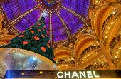 Christmas Tree In Galeries Lafayette, Paris