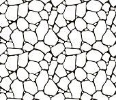 Stones seamless pattern, vector