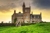Classiebawn Castle on Mullaghmore Head at sunset in Co. Sligo, Ireland