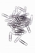 Metal Paper Clips, Isolated Over White