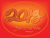 CHINESE NEW YEAR 2013 Year of the snake 2013 (EPS 10)