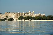 Udaipur City Palace - View From Jag Mandir Island,rajasthan,india