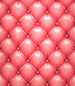 Vector illustration of pink realistic upholstery leather pattern background. Eps10.
