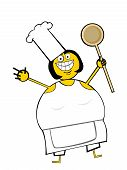 Cooking Woman poster