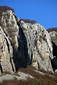 Limestone rock formations in the Occidental Carpathians, Romania