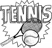 Tennis sports sketch