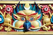 Garuda Bird - Sacred Deity In Hindu And Buddhist Mythology, Architectural Detail