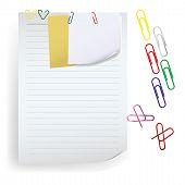 Memo Note With Paper Clip.eps
