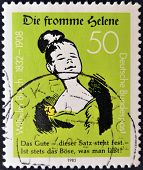 A stamp printed in Germany showing Good Helene
