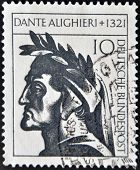 stamp printed in Germany showing Dante Alighieri