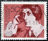 a stamp printed in Germany shows Else Lasker-Schuler poet and playwright