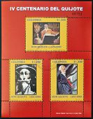 COLOMBIA - CIRCA 2005: Collection stamps dedicated to Don Quixote circa 2005