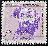 PORTUGAL - CIRCA 1993: A stamp printed in Portugal shows Ferdinand Magellan circa 1993