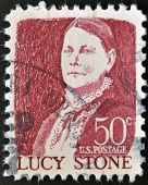 UNITED STATES OF AMERICA - CIRCA 1968: stamp printed in USA shows Lucy Stone circa 1968