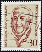 GERMANY- CIRCA 1979 stamp printed by Germany, shows Ernst Moritz Arndt , circa 1979