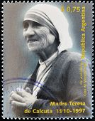 ARGENTINA - CIRCA 1997: A stamp printed in Argentina shows mother Teresa circa 1997