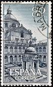 SPAIN - CIRCA 1961: a stamp printed in Spain shows Escorial Monastery , circa 1961