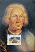 FRANCE - CIRCA 1992: A stamp printed in New Caledonia dedicated to discovery of America