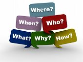 picture of query  - Resolving issues by asking the most important questions - JPG