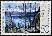 A stamp printed in Germany shows a picture of the
