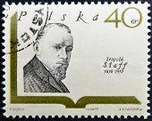 POLAND - CIRCA 1969: A stamp printed in Poland shows polish writer Leopold Staff circa 1969