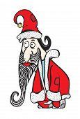 Santa Klaus Sad And Upset
