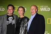 LOS ANGELES - JAN 3:  Charles Pol; Diane Pol; Dr. Jan Pol arrives at the National Geographic Channel