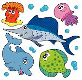 Cute Marine Animals Collection 2 poster