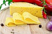 Cheese with pepper and herbs