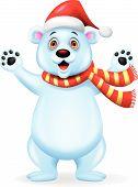 Dibujos animados de oso polar que agita