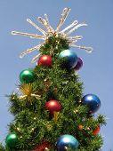 Christmas Tree Blue Sky