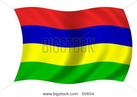 Flag Of Mauritius poster