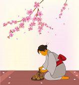 Sakura . Tea ceremony.Menu . Coffee .