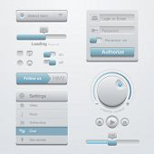 User interface Application design elements template kit. For Adaptive apps. Flat 3D UI.