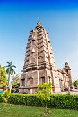 stock photo of vihara  - mulagandhakuti vihara temple in sarnath varanasi india - JPG