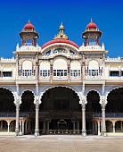 stock photo of karnataka  - Mysore Palace in Mysore Karnataka state India - JPG